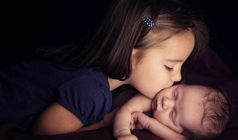 дети, любов, devochka, поцелуи, ребенок, нежность, малчик, детей,