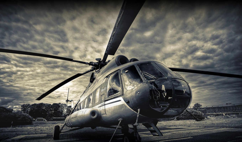 ми, миль, лопасти, вертолет, авиация,