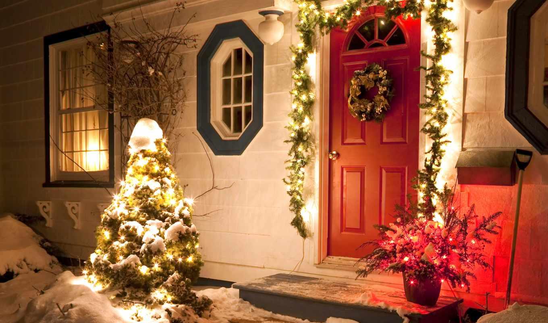 christmas, дверь, новогодние, фронтовой, share, winter, огни, мб, праздник, нов, jpeg, количество, house,