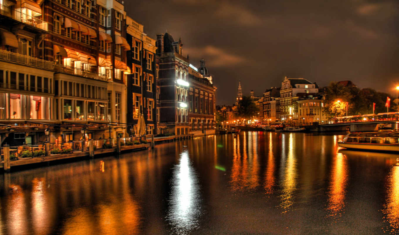 venice, город, города, разрешений, высоком, река, лодка, italy,