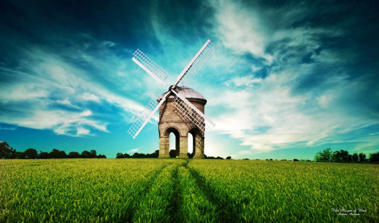 поле, mill, природа,