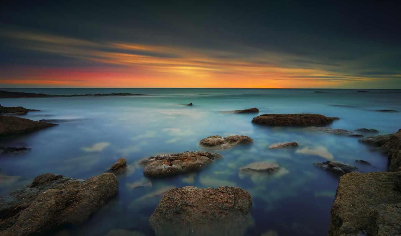 закат, resolution, побережье, йоркширский, первую, desktop, landscape, lscape, природа, ноутбук, apple