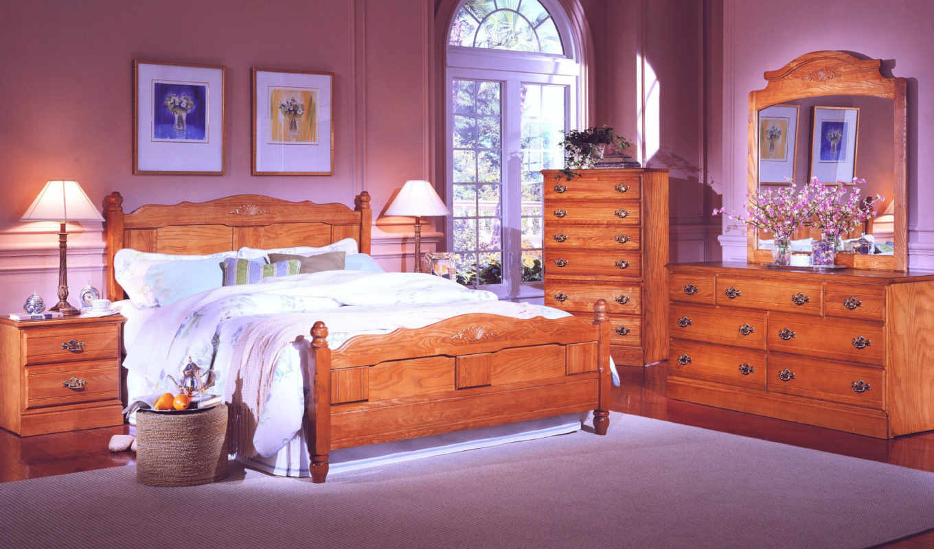 oak, bed, carolina, bedroom, headboard, queen, furniture, beds, spindle, panel, with, slat, dekor, xga, интерьер, traditional, wood, side, collection,