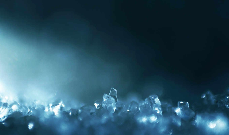 glass, crystal, blue, crystals, macro,