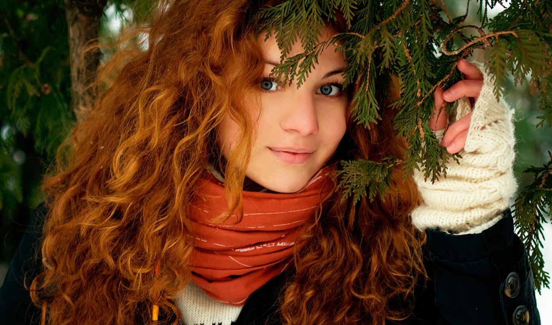 рыжие, devushki, волосы, улыбка, лицо, vzglyad, devushka, priroda,