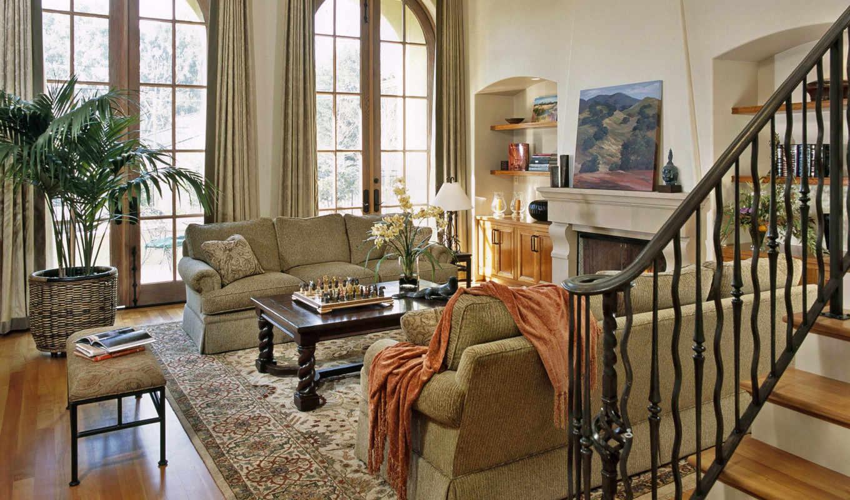 living, интерьер, мебель, комната, потолок, design, взгляд,