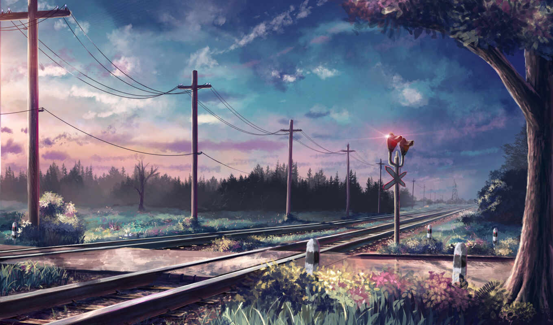 art, anime, природа, красивые,