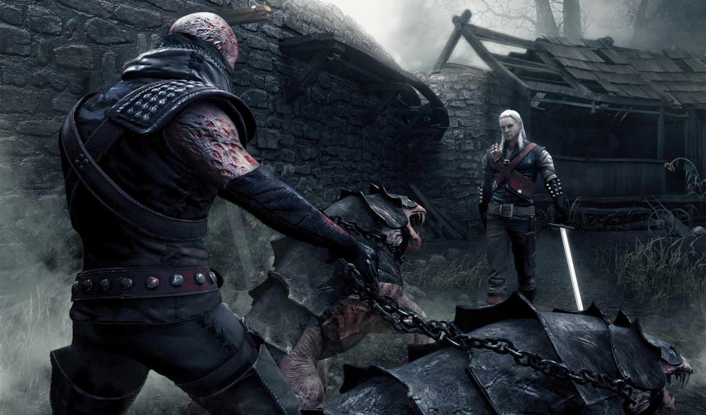 ведьмак, меч, монстры, туман,