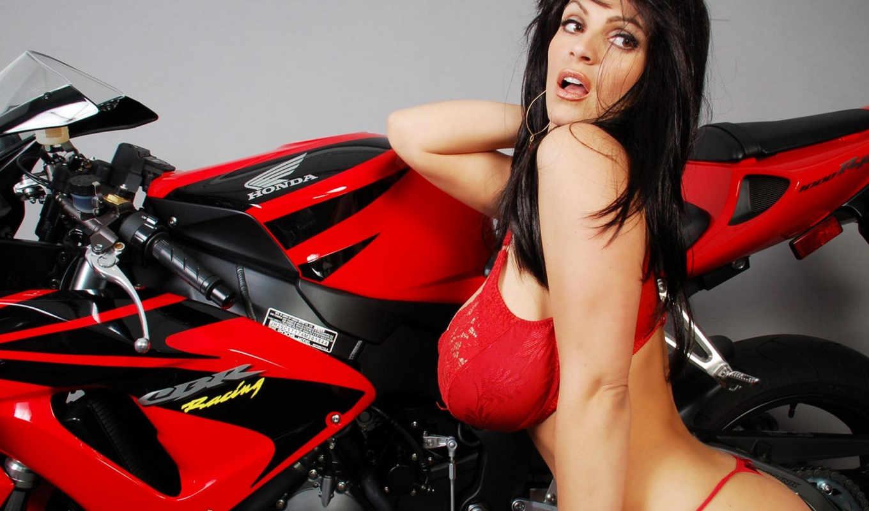 girls, motorcycles, display,