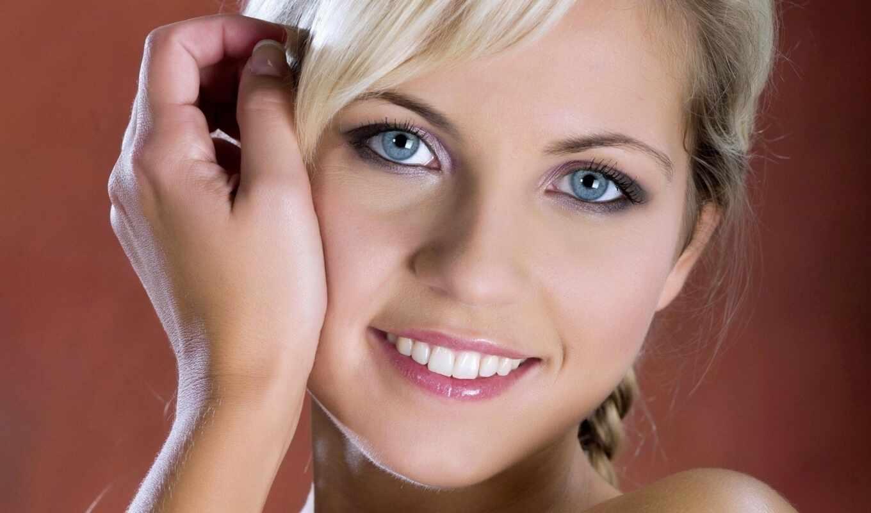 глаза, голубых, девушка, blue, макияж, глаз, possible,
