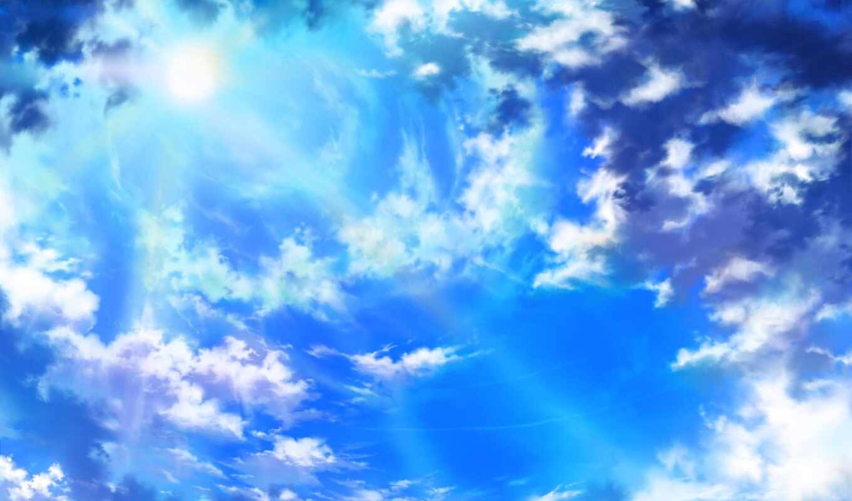 небо, oblaka, sun, природа,