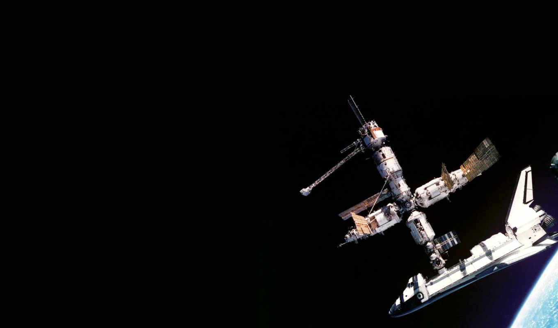 space, mir, shuttle, atlantis, орбита, планета, спутник, adieu, navette, spatiale, nasa, station,