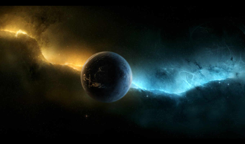 звезды, бесконечность, космос, nebula, planet,
