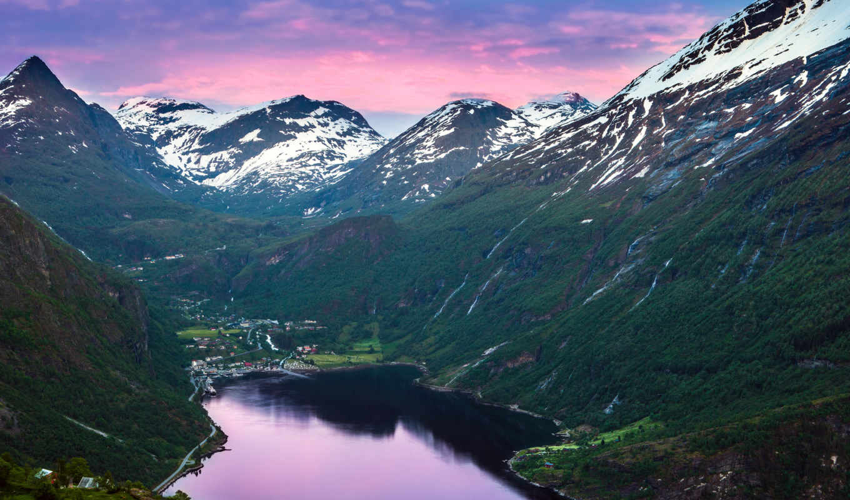 норвегия, горы, fjord,