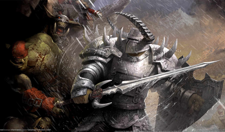 орки, online, аллоды, игры, hellbreed, воин, совершенн, битва, меч, world, доспех,