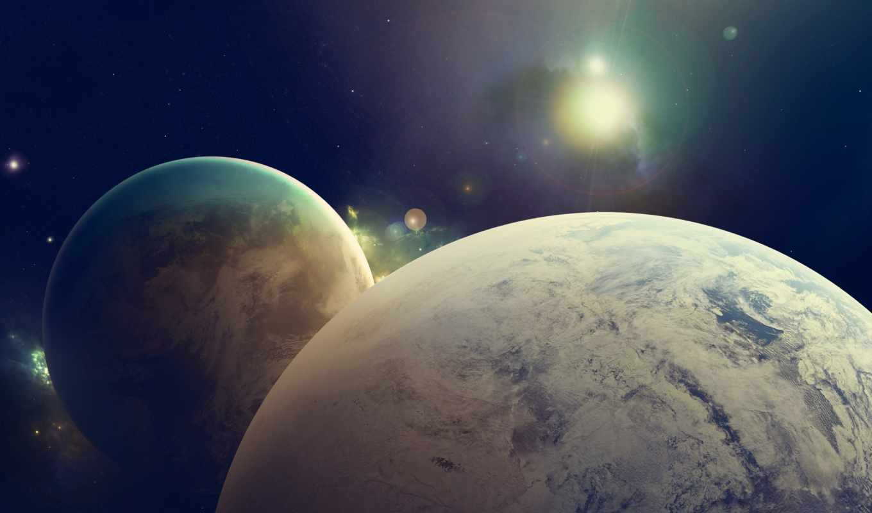 cosmos, planet, спутник, звезды, космосе, космоса, full,