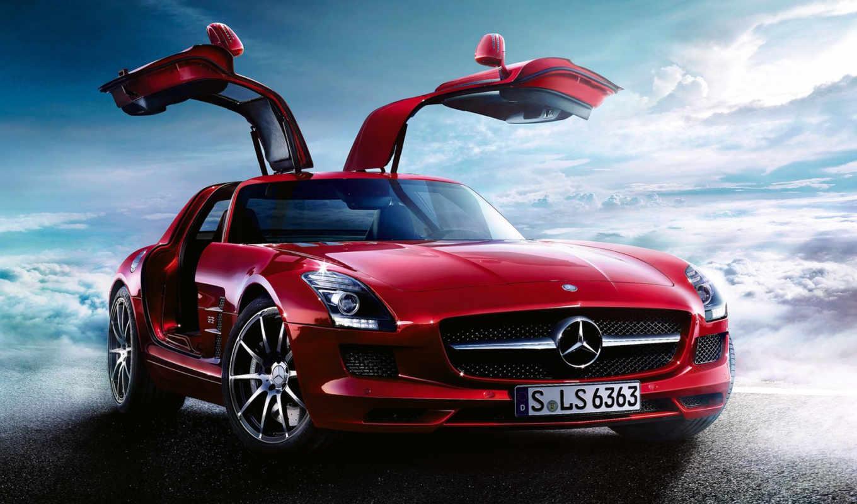 mercedes, sls, amg, benz, wallpaper, hd, car, download, red, cars,