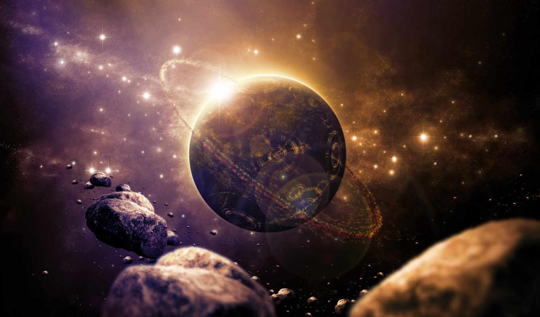 сатурн, планета, космос, звезды,