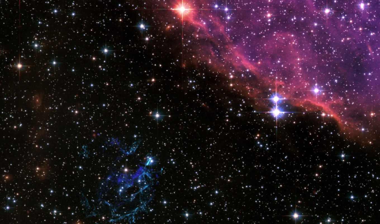 космос, звезды, туманность, фона,