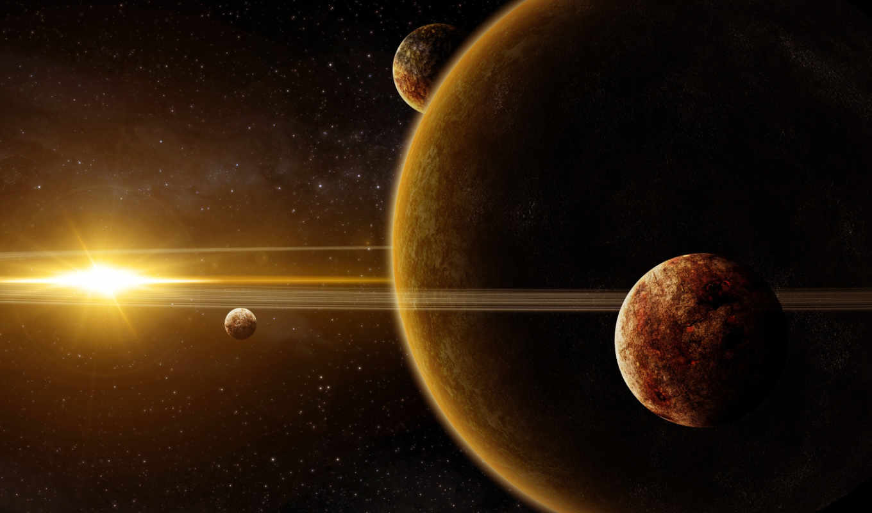 космос, арт, планеты, звезда, гигант, rise, giants, картинку, картинка,