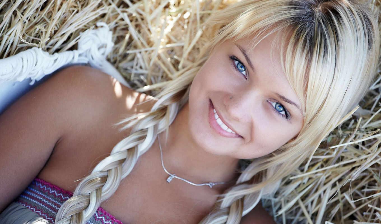 блондинок, глаз, макияж, голубыми, голубых, глазами, blondinka,