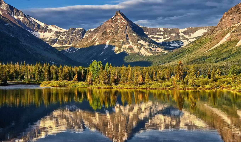 ,горы,озеро,отражение,лето,