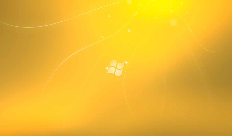 windows, se7en, лого, жёлтый, птицы