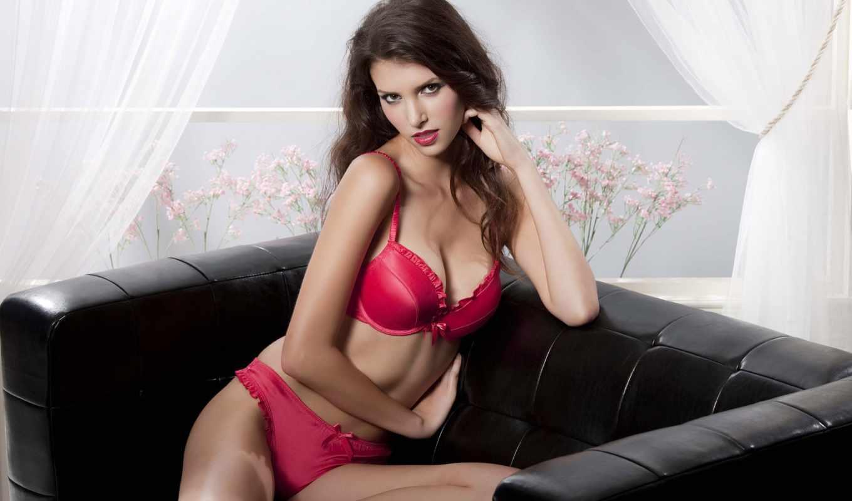 белье, devushki, девушка, взгляд, поза, белья, страстный, розовое, нижнем, color,