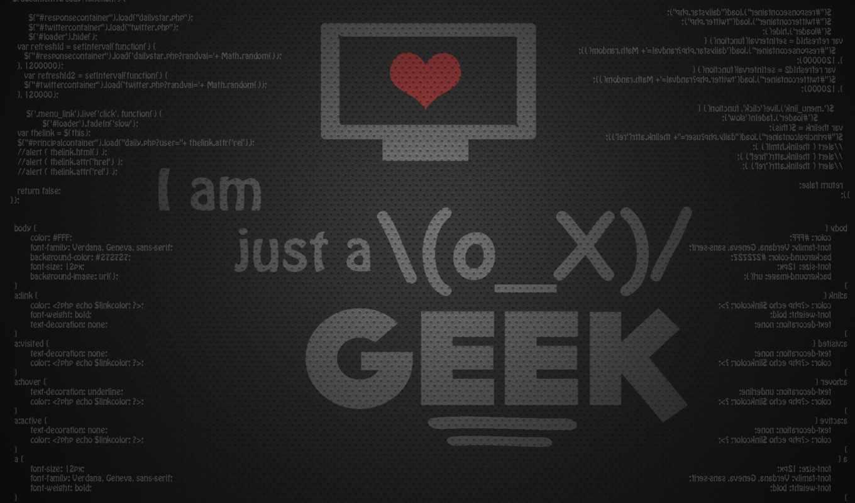 geek, hd, надпись, just, wallpaper, wallpapers, am