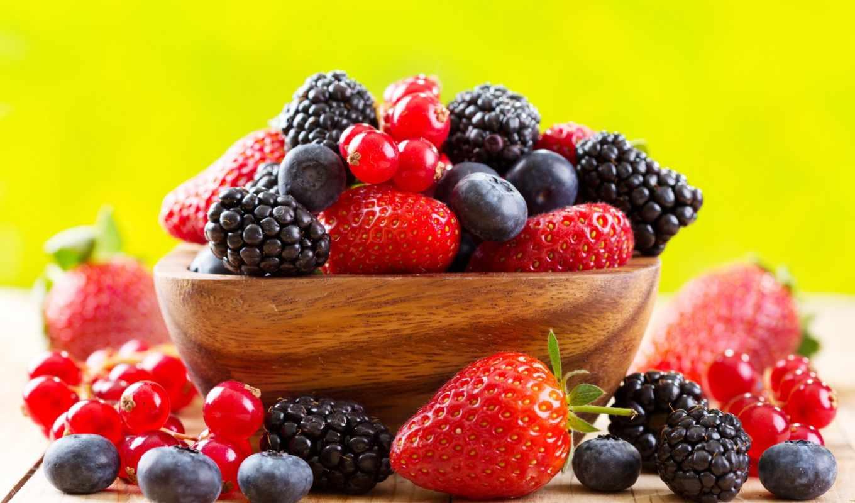 ягоды, еда, малина, клубника, июня, черника,