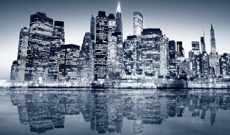 grandwallpapers, заставки, фоны, manhattan, new, york, город,