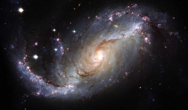 galaxy, star, light, space,