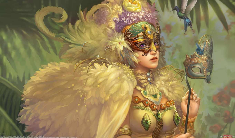 фэнтези, art, птицы, красивый, fantasy, птица, девушки, girls,