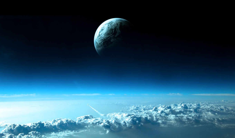 космос, planet, land,