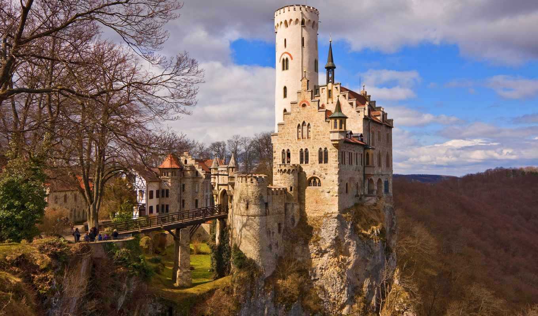 замок, германии, замков, замка, лихтенштейн, насчитывается, средневековые,