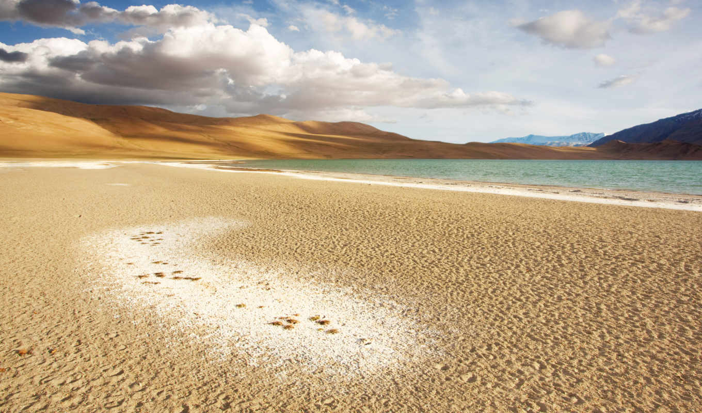 coastal, beaches, облака, горы, озеро, небо, deserts, android, iphone, free,