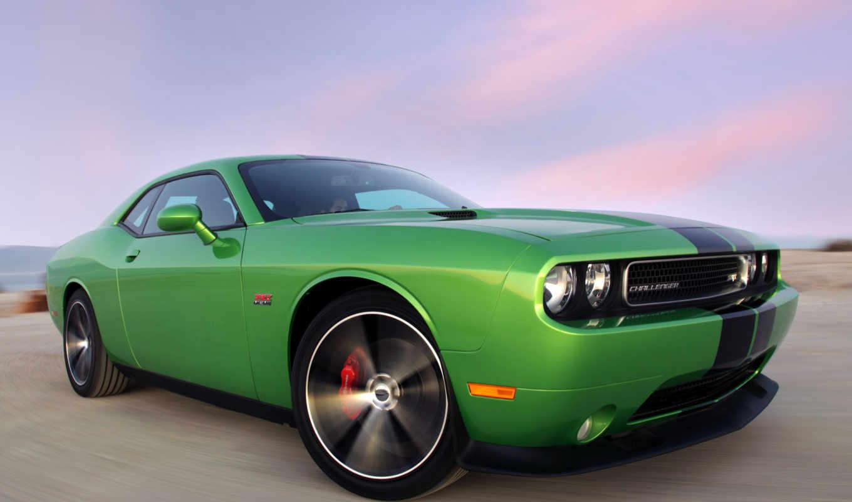challenger, dodge, srt, зависть, зелёный,