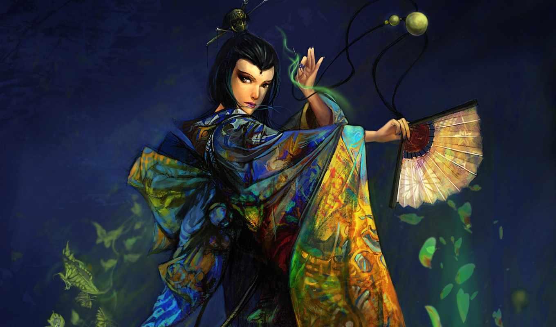 веера, веерами, танца, fan, мар, история, веером, dance, китаянка,