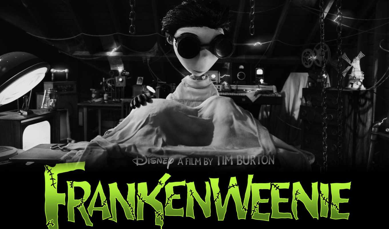frankenweenie, франкенвини, плакат, бартон, спарки, sparky,