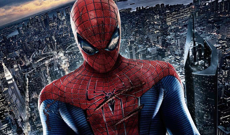 ,человек паук, паук,город,