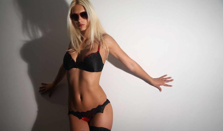 blonde, очках, белье, девушка, солнцезащитных, стоковое, очки, нижнем, люди,