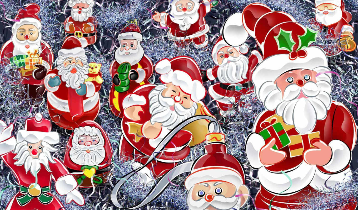christmas, santa, year, background, holidays, image, new, you, santas, walls,