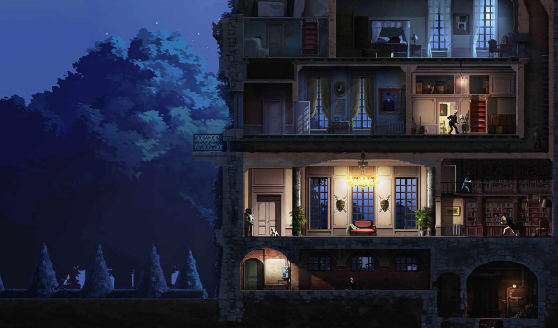 библиотека, house, категория, adventures, игры, tintin, ночь, квартира, совершенно, без,