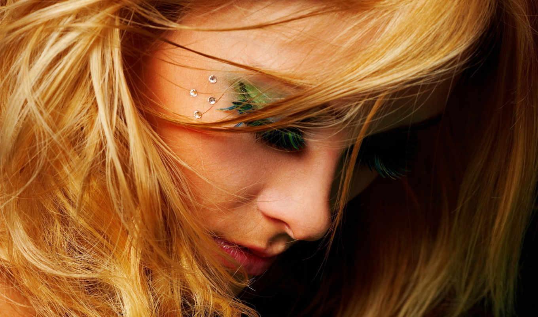 девушка, blonde, ресницы, платье, взгляд, devushki, картинка,