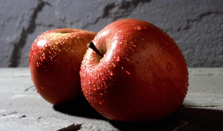 apple, еда, капли, яблоки,