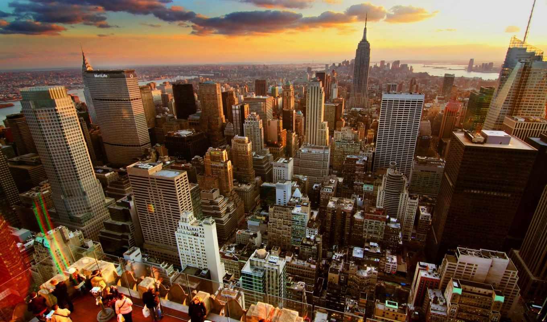 new, york, нью, город, дома, небоскребы,