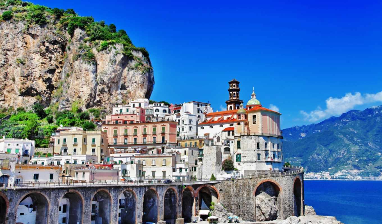 позитано, positano, italy, amalfi, salerno, provincia, картинку, картинка, кнопкой, мыши,