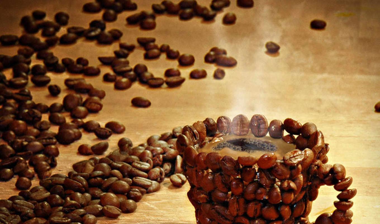 coffee, кофейных, зерен,