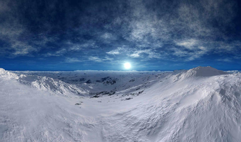 tundra, winter, изображение, frozen, снег, горы,