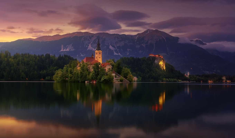 bleed, озеро, остров, slovenia, ozero, гора, church, церковь, castle, дева, pablo